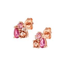 Diamantörhänge i 18K roséguld