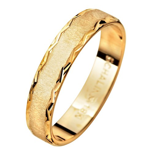 Förlovningsring i 18K guld 4mm