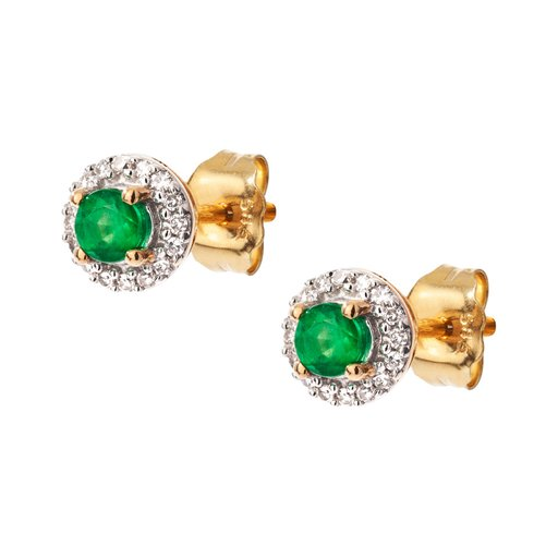 Diamantörhängen i 18K guld