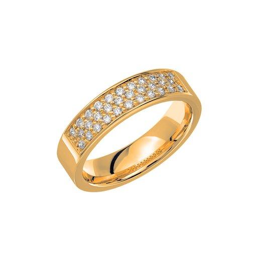 Diamantring i 18K guld