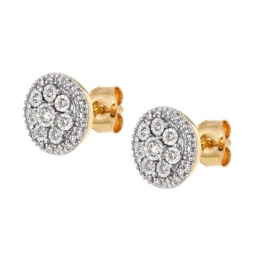 Diamantörhänge i 18K guld