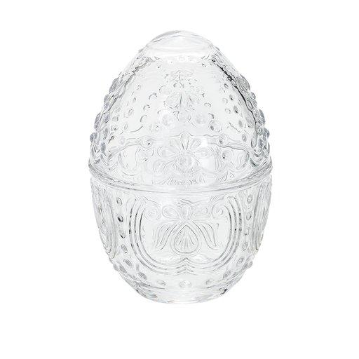 Äggformad burk i glas