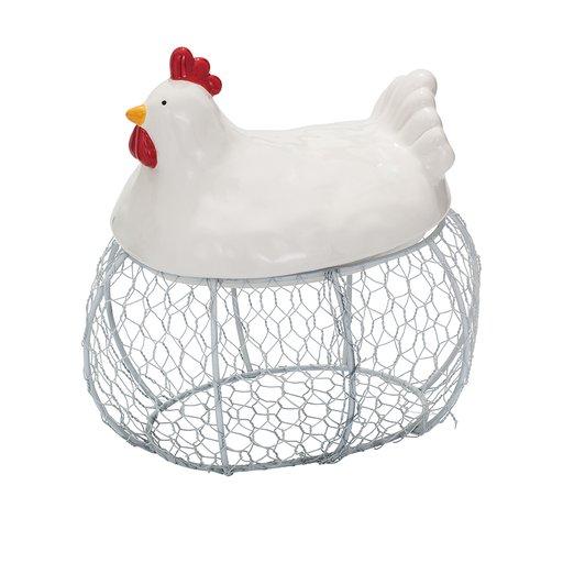 Äggkorg med lock höna