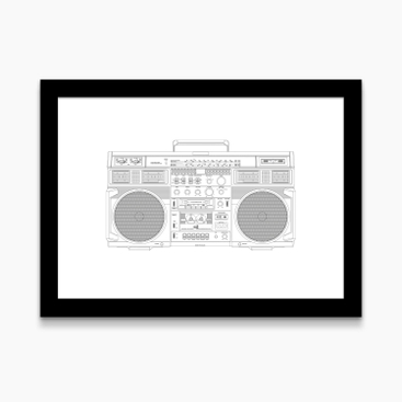"Juliste A3 ""Ghetto blaster"""