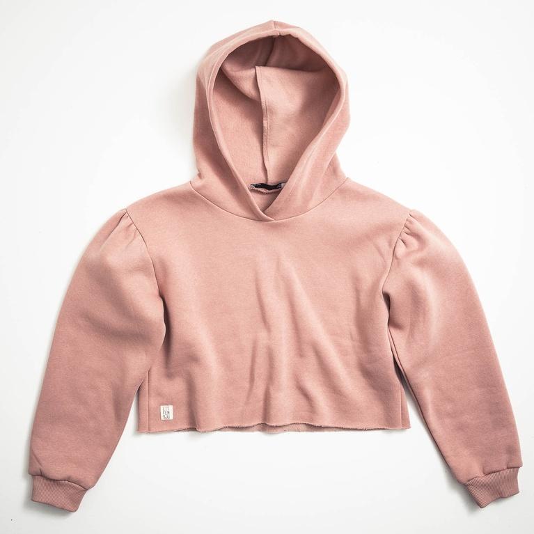 """Puff hoodie """"Peach star"""""""