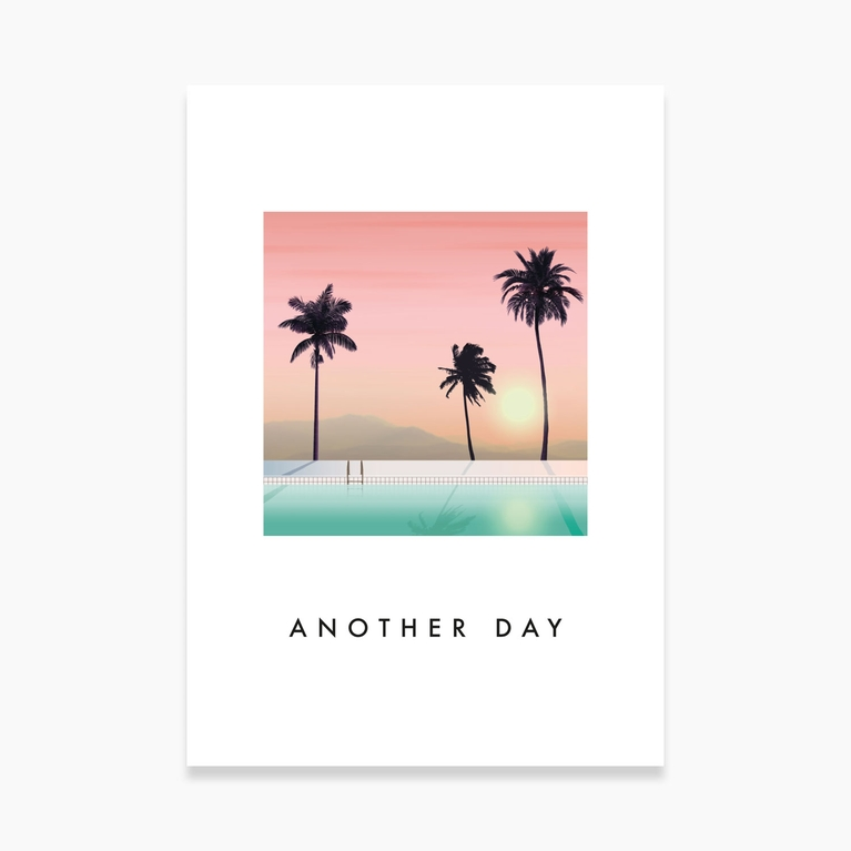 """Poster 70x100 """"Another day"""""""