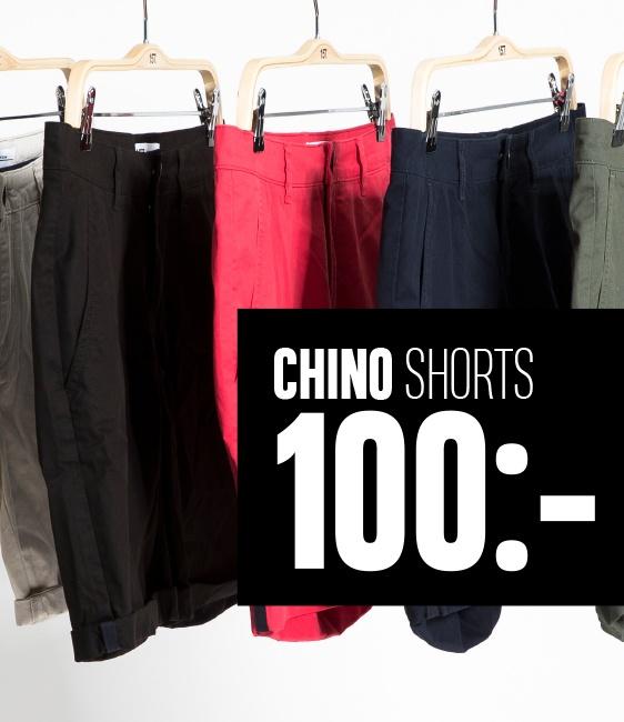 chino shorts 100,-