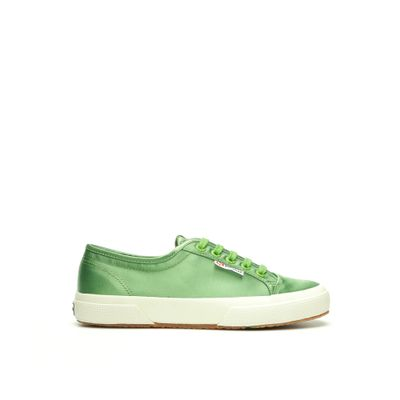 2492 SUPERGA X ALEXA CHUNG SATINW GREEN FERN