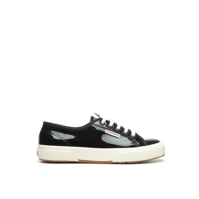 2750 SUPERGA X ALEXA CHUNG VARNISHW BLACK-OFF WHITE