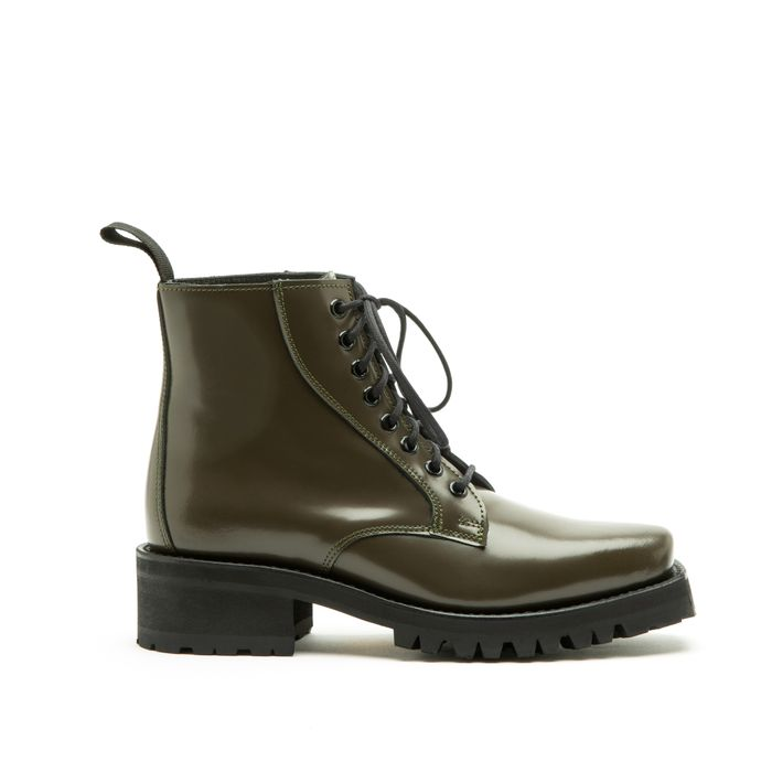 Florence Patent Leather Outdoor Green