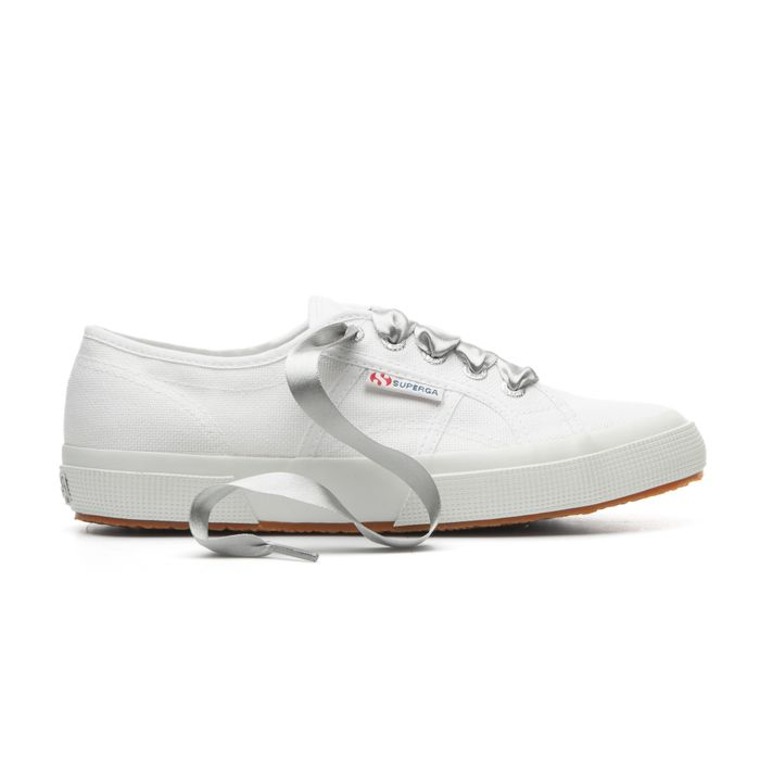 SATIN WIDE LACES GREY SILVER BIRCH