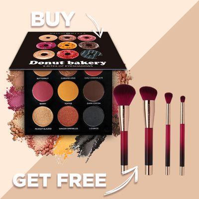 Donut eyeshadow palette & brush set