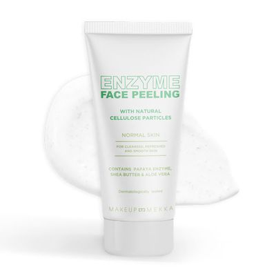Enzyme Face Peeling With Cellulose Particles