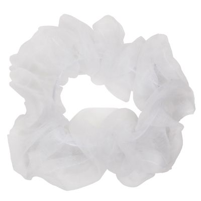 MESH Scrunchie White
