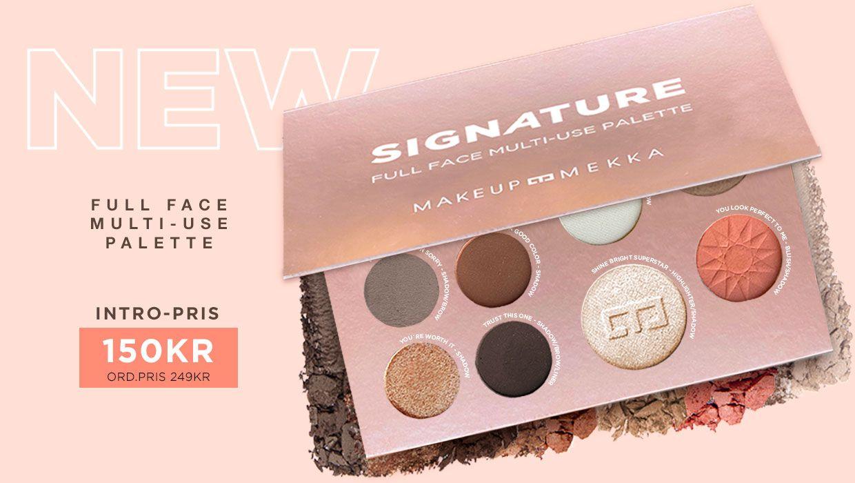 Det ultimate multi use face palettet som inneholder øyenskygger brynspudder blush bronzer highlighter og solpudder