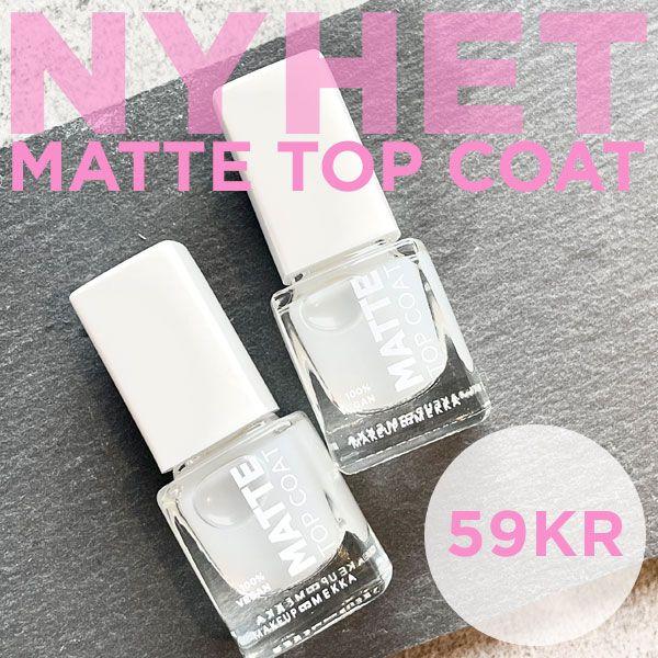 Nyhet! Matte top coat kr 59