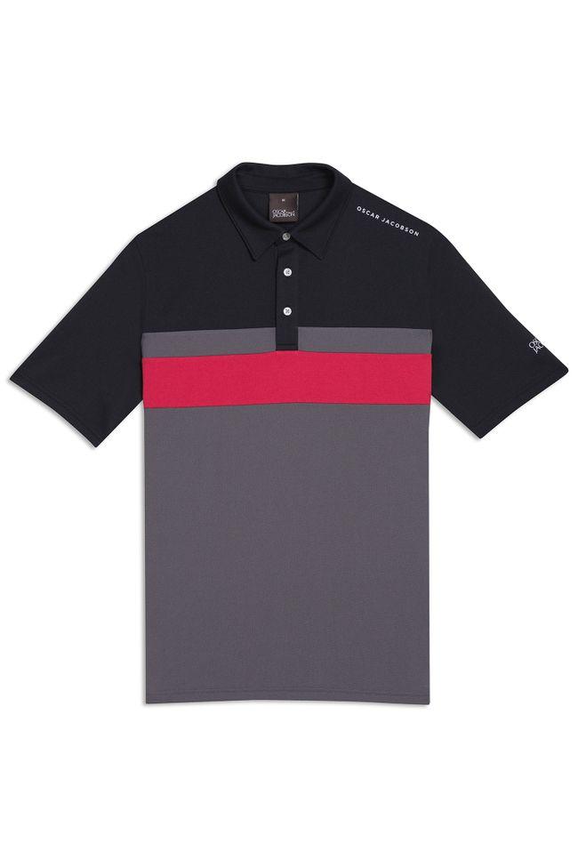 Boston Course Striped Golf Polo Shirt