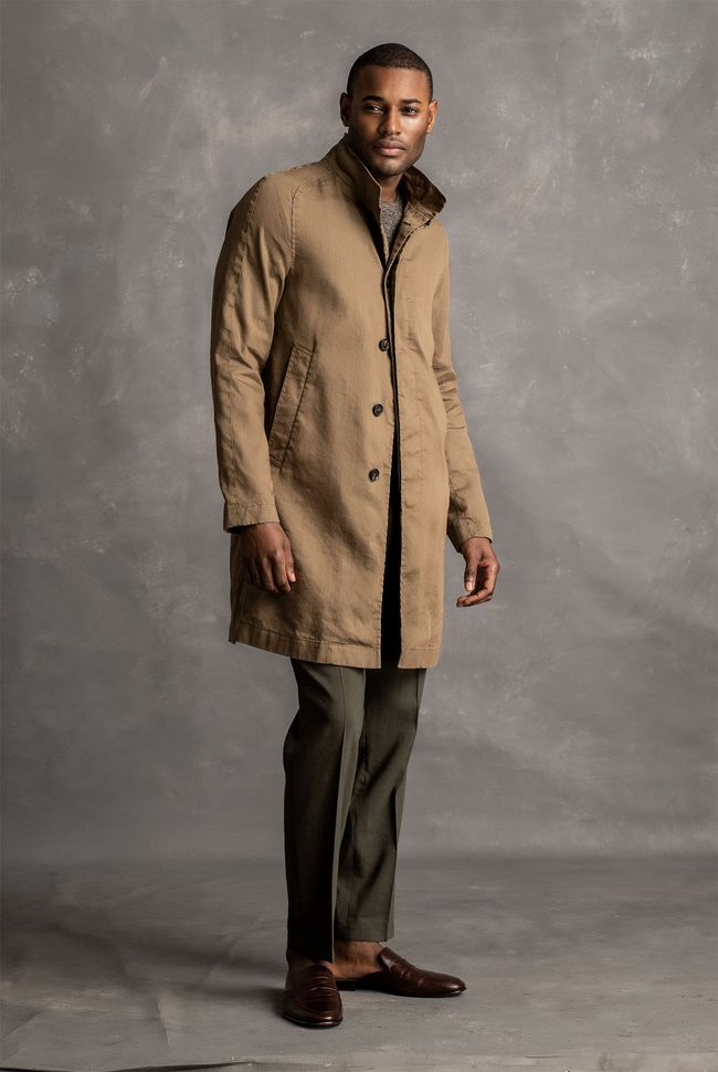 Chimney Waxed Linen Coat
