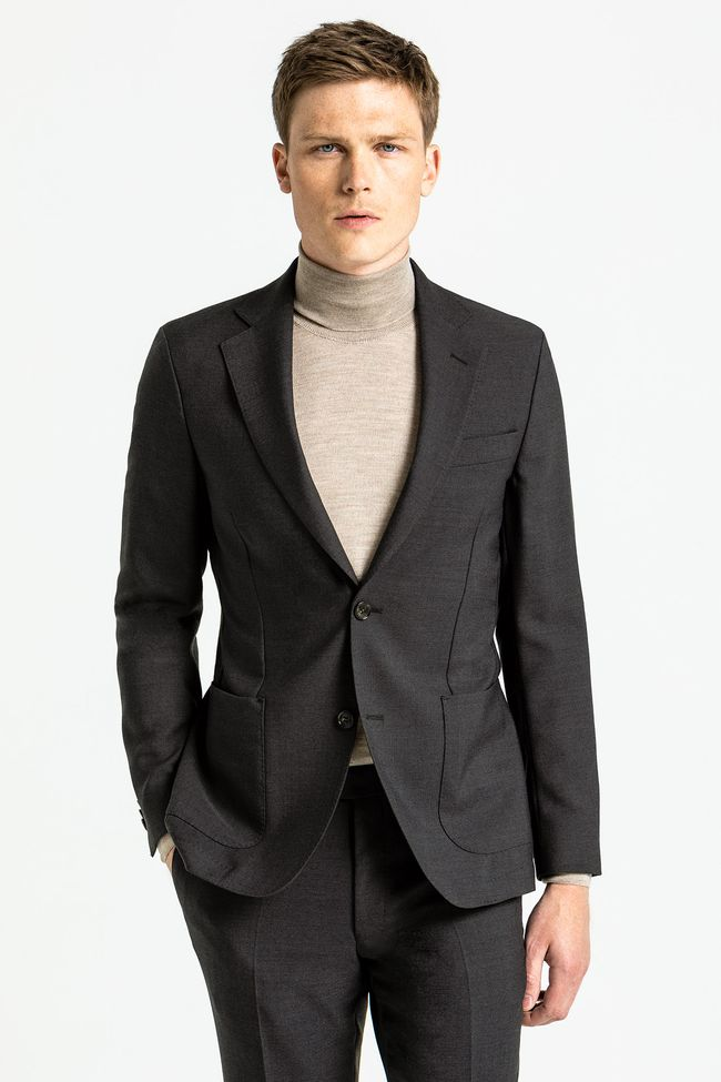 Kavaj Herr Tunn Slim Fit Casual Manchester Blazer Business