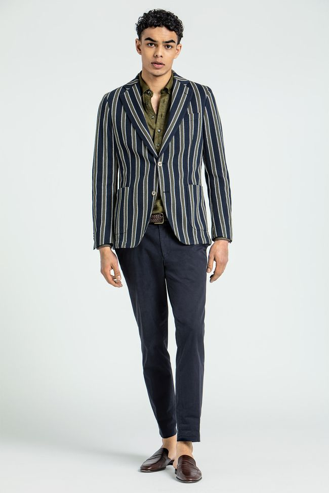 Egel Patch striped Blazer