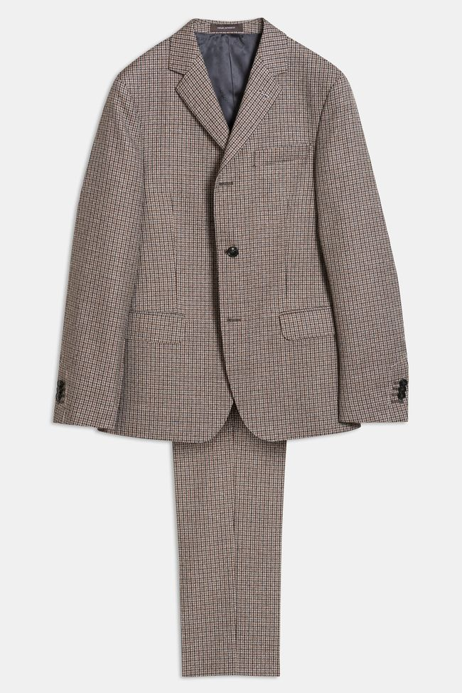 Elias checkered three buttons Suit