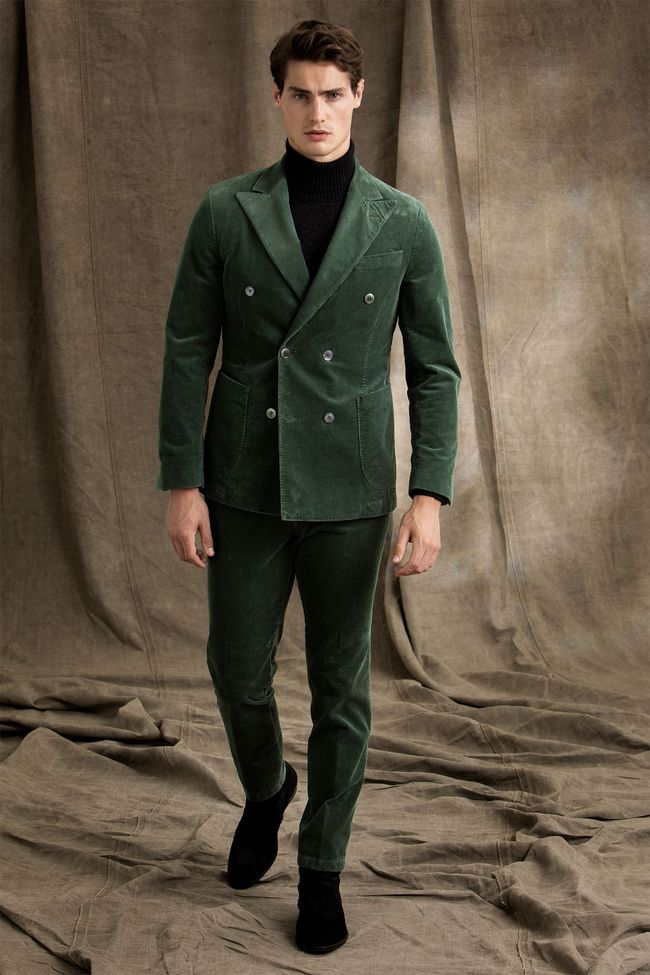 Erik double breasted corduroy suit