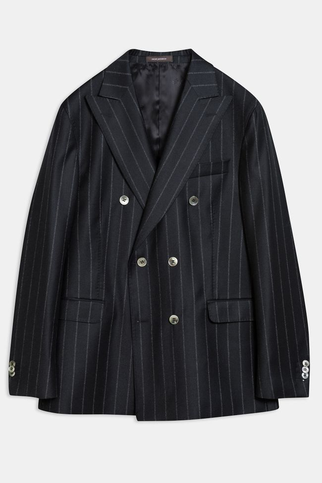 Farris double breasted pinstripe blazer