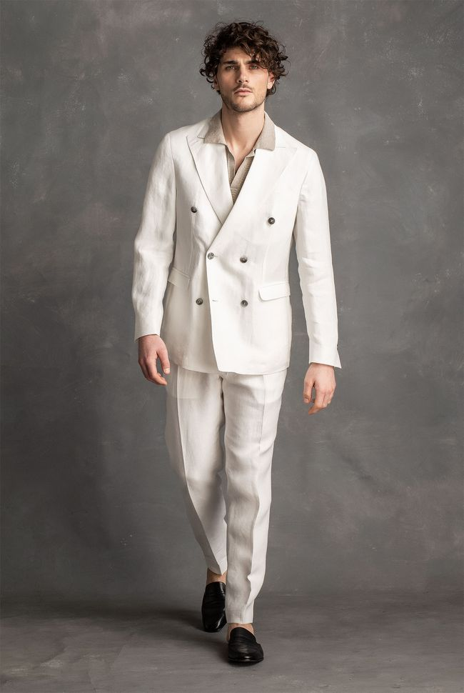 Fenix double breasted linen suit