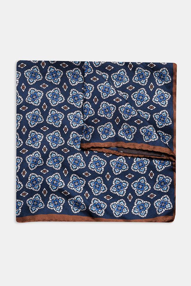 Patterned silk handkerchief