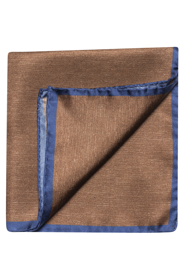 Plain silk handkerchief