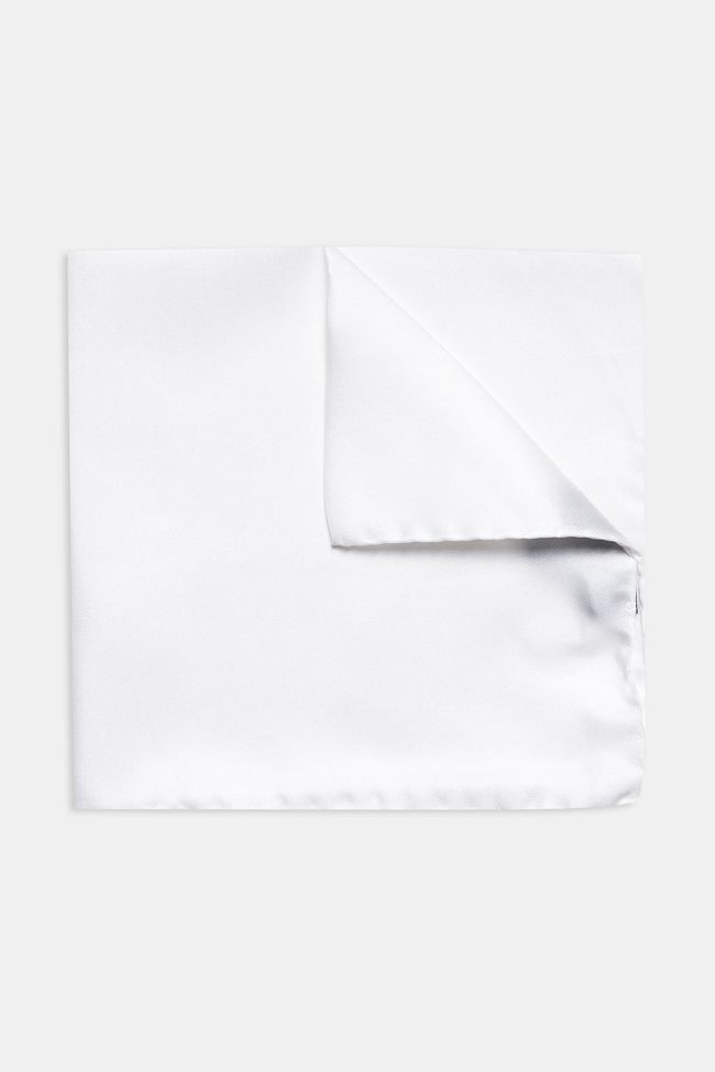 White silk handkerchief
