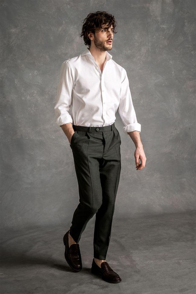 Herman skjorta med mikrotextur