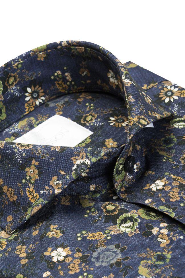 Herman blommig skjorta