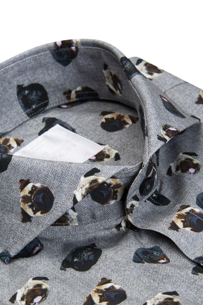 Herman pug print shirt