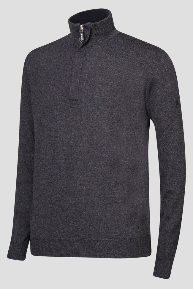 Heron half-zip sweater