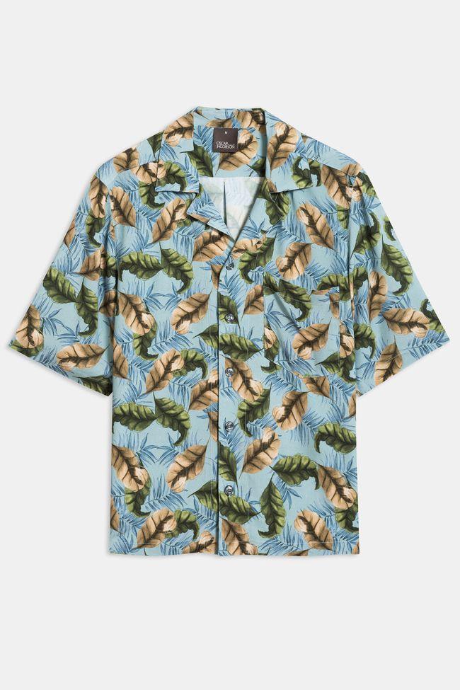 Hilmer bladmönstrad skjorta