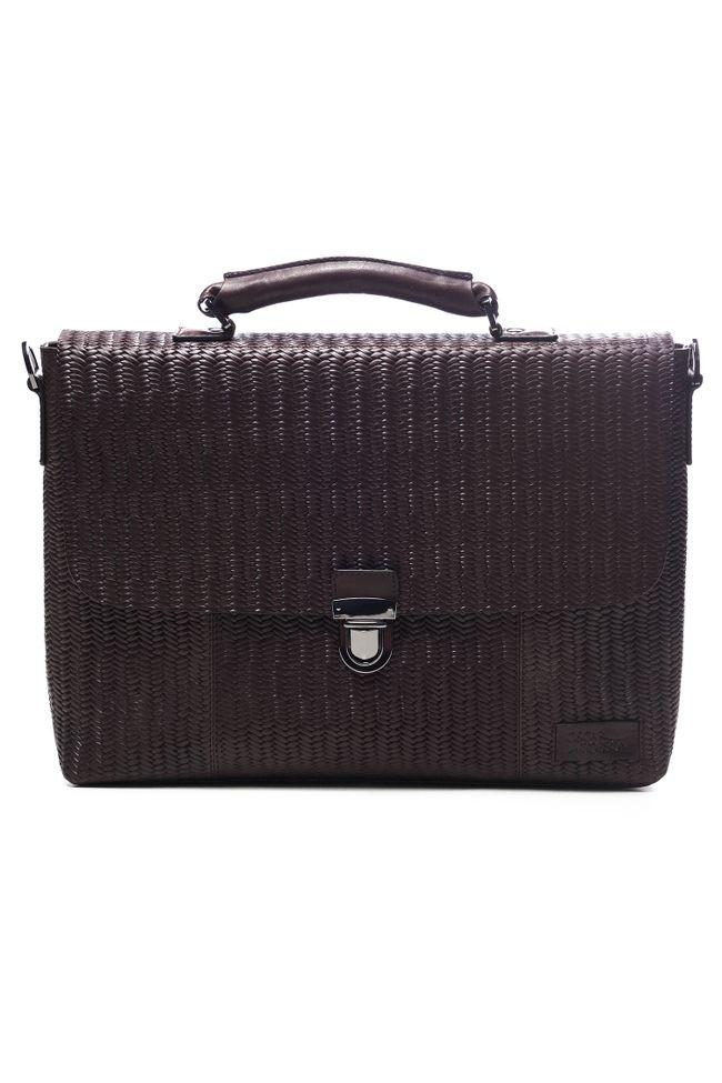 """Braided briefcase 15"""""""
