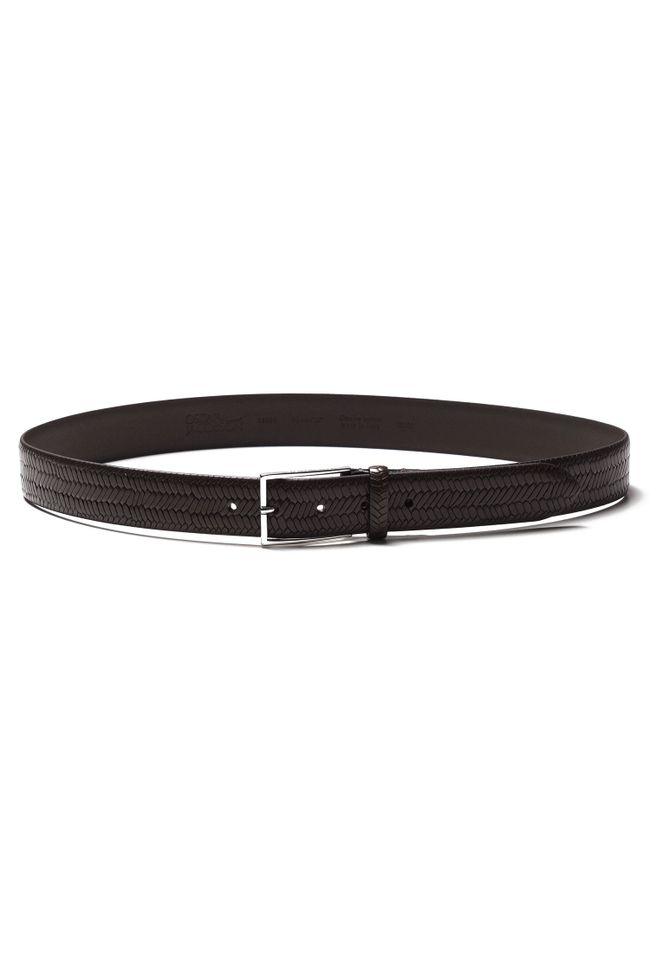 Vidar Texture leather belt 35 mm