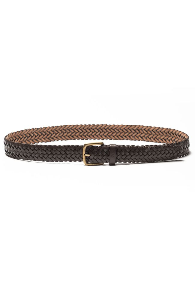Villy Braided leather belt 35 mm