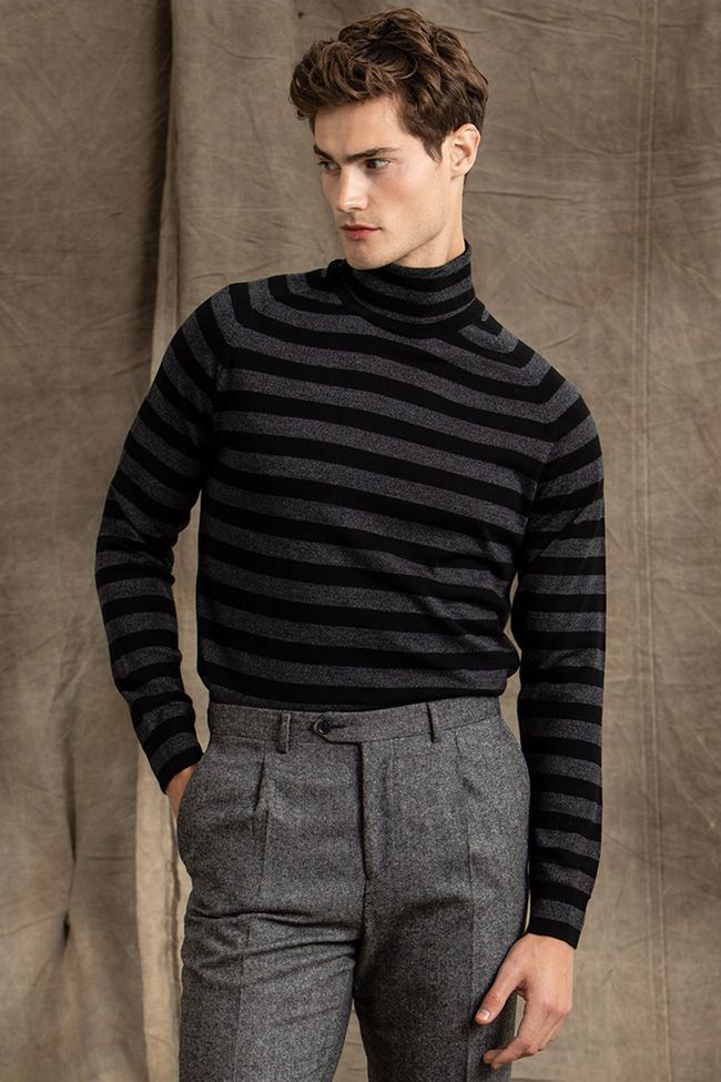Sargar striped rollneck