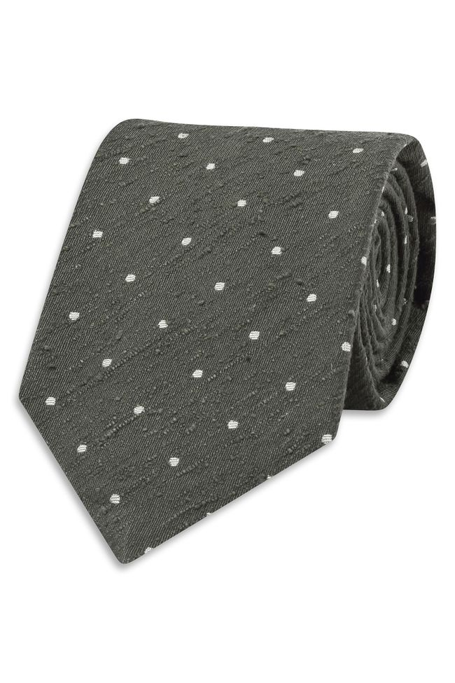 Spotted silk tie