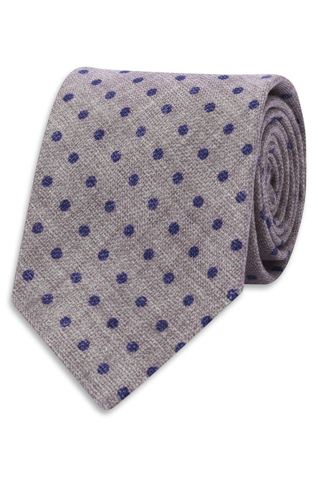 Spotted wool tie
