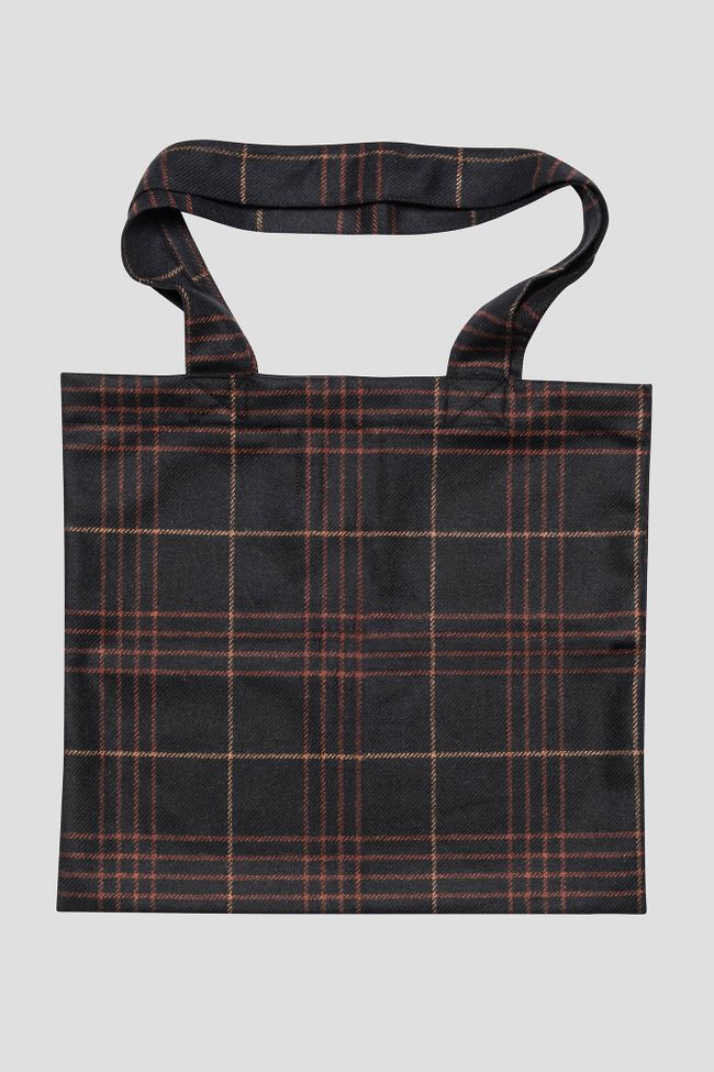 Tartanrutig tote bag