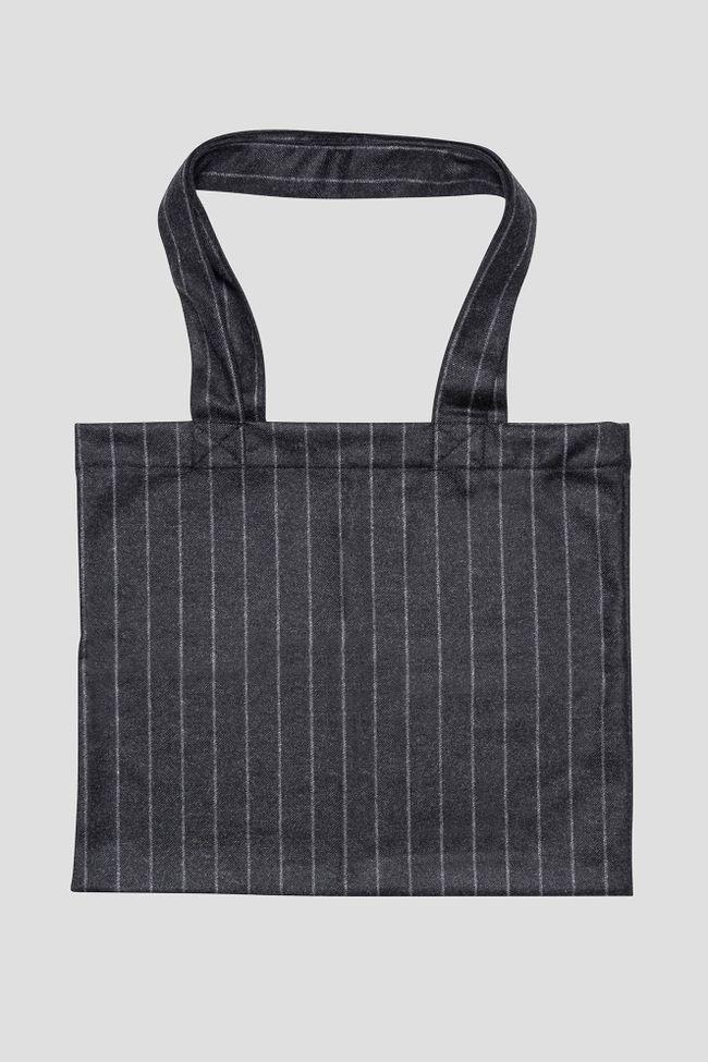 Kritstrecksrandig tote Bag