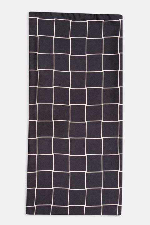 Checkered silk Bandana