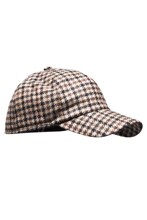 Checkered wool cap