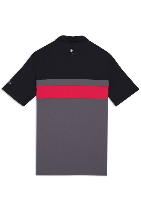 Boston Course Striped Golf Polo Shirt