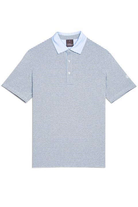 Chester striped golf poloshirt