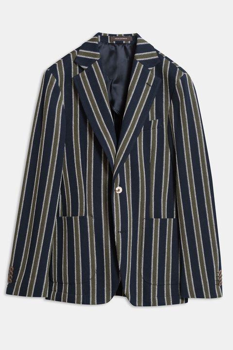 Egel Patch striped Blazer