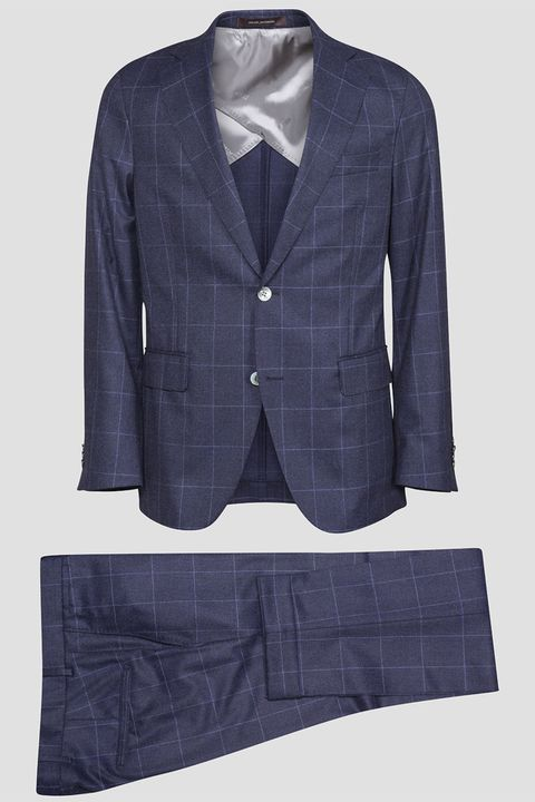 Egel checkered flannel suit
